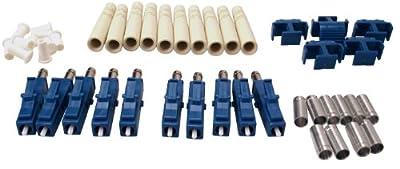 Shaxon Fiber Optic Connectors, Singlemode, 10 Pack
