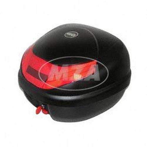 GIVI E300 - Monolock Topcase - 30 Liter - schwarz matt - Länge x Breite x Höhe: 400x410x300mm - inkl. Universaladapterplatte/ Halterung