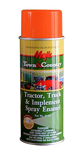 Majic Paints 8-20971-8 Tractor & Implement Spray Enamel Paint, Aerosol, Kubota Orange