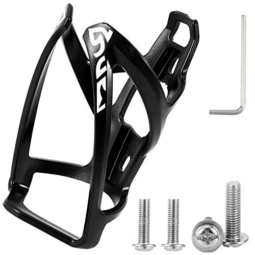 metagio Bike Water Bottle Cage, Universal Lightweight Bicycle Bottle Holder Shockproof Cycling Drink Cup Holders with Bottle Holder Adapter Cycling Accessory Part for Road, Mountain and Kids Bikes