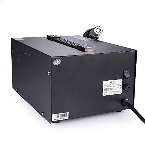 Mbuynow Station de Soudage 937D Fer à Souder 45W Station de Réparation à Souder Air Chaud (EU) Température Contrôlée 200~480 ℃ avec Affichage LED Digital Précis Professionnel