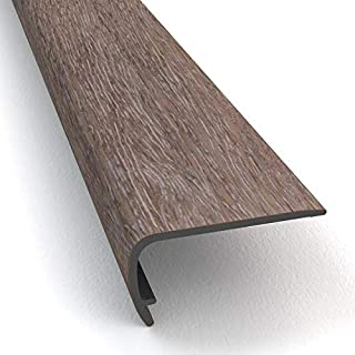 Vinyl Stair Nosing (CD-12) Luxury Vinyl Stairs, treads, risers, Transition Strips, molding, LVP, LVT and LVF