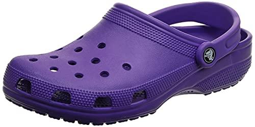 Crocs Unisex Men's and Women's Classic Clog, Neon Purple, 9 US