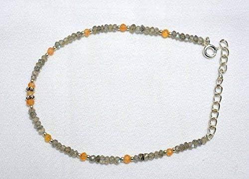 Gemstone Max 63% OFF Beaded Bracelet Bracel Charlotte Mall Carnelian Labradorite
