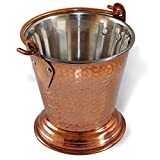 Attraction place Copper Balti Bucket Serveware for Indian Curry Gravy 425ML