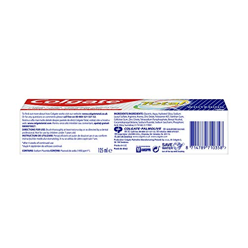 Colgate Total Whitening Toothpaste, 125ml