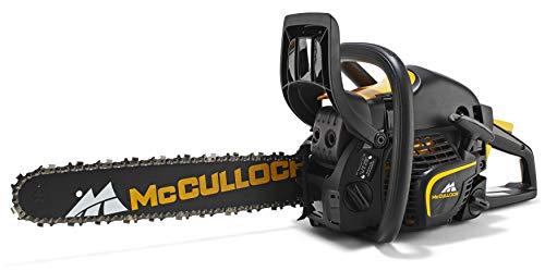 McCulloch Benzin-Kettensäge CS 410 Elite, Motorsäge mit 1600 W Motor, 38 cm Schwertlänge, kombinierter Start-Stopp-Schalter (Art.-Nr. 00096-66.316.15)