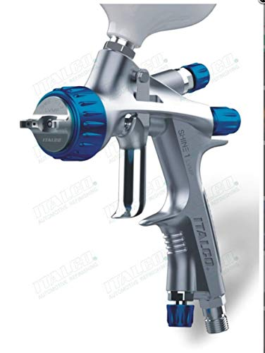 ITALCO Shine 1 L.V.M.P Spray Gun 1.3 tip 600ml Cup Feed Spray Gun USA Brand