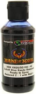 House of Kolor Cobalt Blue Candy Basecoat Pre-Blended R-T-S 4-Oz Bottle