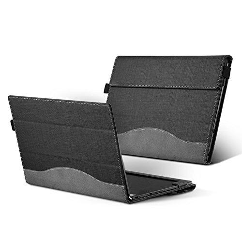 lakikey exclusiva funda folio cubierta de la caja para 10.1Lenovo Yoga Libro Para Portátil Ordenador Portátil Tablet mangas Ejecutivo para ordenador portátil, gris, Layoga-grey