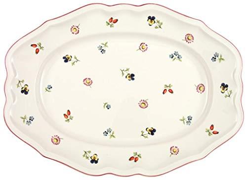 Villeroy & Boch Petite Fleur Platte oval, Premium Porzellan, White, 37cm