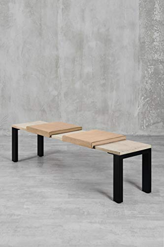 carla&marge Klemmkissen Sense - 2er Set - 44x6x44 cm - Samtkissen für Sitzbanktiefe 40 cm - Hellbraun/Cappuccino