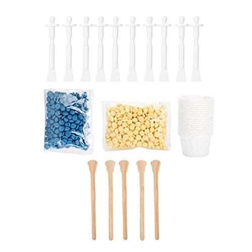 Nose Wax Kit, Kit Depilación Nariz, Kit de Cera para la Nariz con de 140 g Nose Wax y 15 Palos Aplicadores para Hombres y Mujeres, Kit De Cera Nasal de Elimina el Vello Nasal Segura e Indoloro