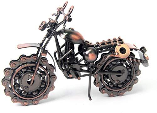 WGL Collectibles, Modello di Auto d'Epoca in Metallo Color Bronzo | Regali per Uomo |Regalo di Anniversario e Regalo di Compleanno, Scultura in Bicicletta Scrambler