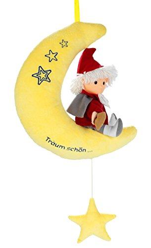 HEUNEC 664074 - Sandmann auf Mond mit Musikzugwerk 22cm