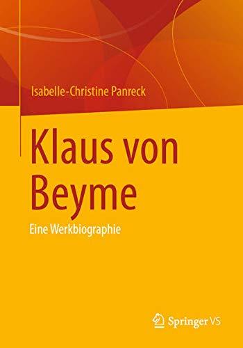 Klaus von Beyme: Eine Werkbiographie