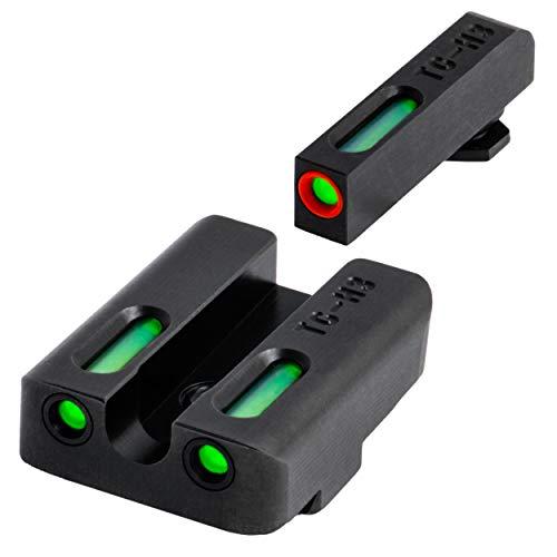 TRUGLO Brite-Site, TFX Pro, Sight, Fits Glock 20,21,29,30,31,32, Tritium/Fiber-Optic, Day/Night Sight, 24/7 Brightness, Black/Green, 1X7X9 inches