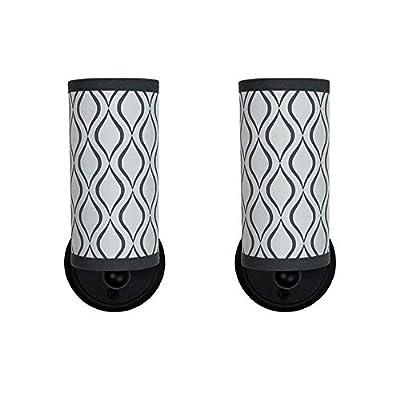 RV Decorative Wall Light | 12V LED | Black | RV Bathroom Sconce Lighting | Light Fixture (2 Lights)