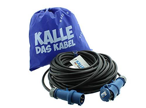 Kalle cavo prolunga in gomma CEE 230V H07RN-F 2,5mm² cavo da campeggio., 240.00 voltsV