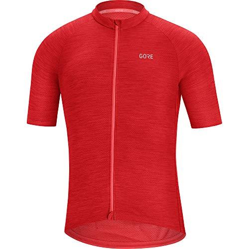 GORE WEAR C3 Herren Fahrrad Kurzarmtrikot, XL, rot