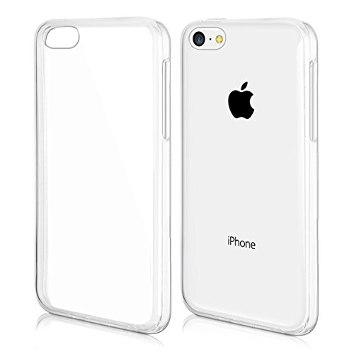 kwmobile Funda Compatible con Apple iPhone 5C - Carcasa de TPU para móvil - Cover Trasero en Transparente