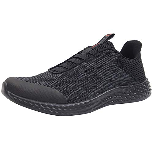 Alpine Swiss Troy Mens Mesh Knit Slip On Sneakers Athletic Lightweight Tennis Shoes BLK 13 M US