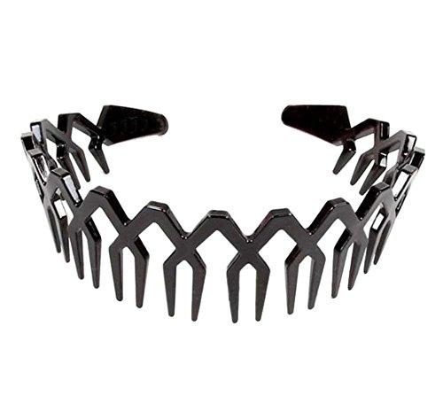 Bandeau de vague de coiffe unisexe, ajustement pour cheveux droits/ondulés/ondulés-D1