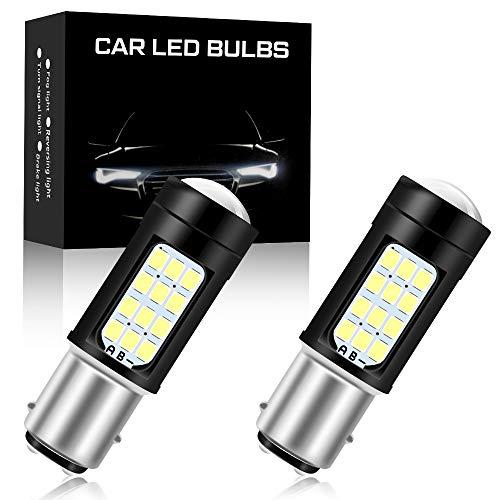 2pz 1157 BAY15D Super Bright 2835 42SMD Canbus Car Lampadine a LED Luci di Stop Luci di coda Lampada Luci di Parcheggio Luci di Marcatura Laterali 6500K (Bianco)