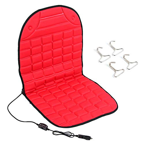 Yctze Car Seat Cushion, Thickening Heated Car Single Seat Cushion Chair Heating Pad 12V(Red)