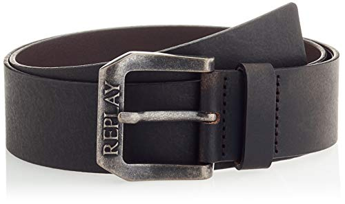 REPLAY Am2587.000.a3001 Cinturón, 128 negro marrón, 90 para Hombre