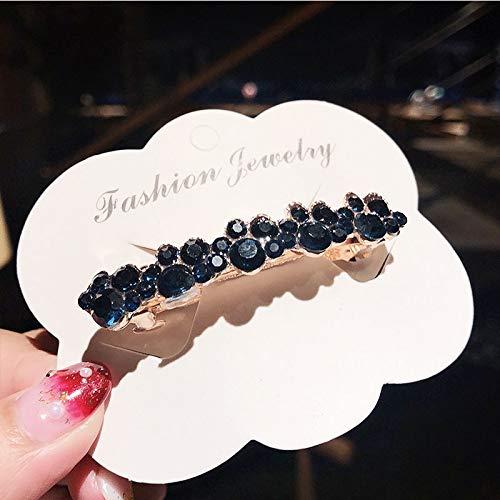 YiXing Pinzas para el pelo elegantes para mujer, con perlas de cristal, para novia, diademas, accesorios de joyería (color metálico: 3)