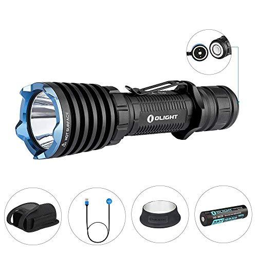 OLIGHT Warrior X LED Taschenlampe 2000 Lumen, 560 Meter Leuchtweite, Taktische Taschenlampen, wiederaufladbare Taschenlampe mit MCC-Magnetladekabel, 18650 3000mAh Batterie enthalten