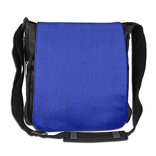 Doinh Natural Woven Royal Blue jute zak doek op maat Canvas Messenger Tas, Inclined Schoudertas, Geschikt voor zowel mannen als vrouwen