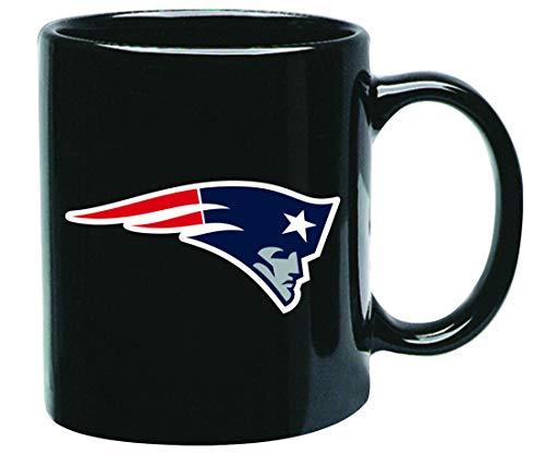 New England Patriots NFL Offizielle Tasse, Becher, Kaffeetasse Black Glossy Groß 425 ml