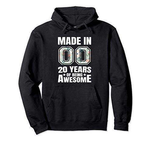 20º Cumpleaños Nacido en 2000 Chicos Chicas 20 años Regalo Sudadera con Capucha