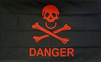 U24 vlag vlag Danger doodskop piraat piratenvlag Skull 90 x 150 cm