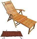 ZZX Relaxstuhl Gartenliege Klappliegestuhl Relaxliege Bambus Freizeit Stuhl Bambus Schaukelstuhl Erwachsenen Klappstuhl Hause Mittagspause Freizeit Stuhl Massivholz Stuhl Klappstuhl