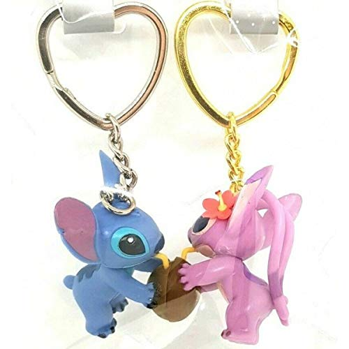 Disney Stitch and Angel Set Llavero Llavero