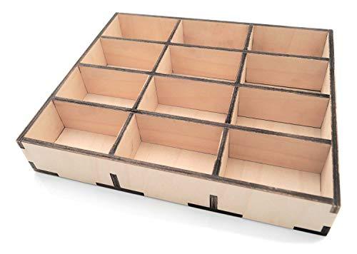 Caja clasificadora de madera para piezas pequeñas, por ejemplo, tornillos, tacos, taladros, taller, hogar