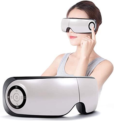 Masajeador Ocular, Masaje Ojos Electrónico Plegable Recargable con Compresión del Calor y Música para Ojo Seco Relajarse Visión Ojo Oscuro Círculos Estrés Alivio