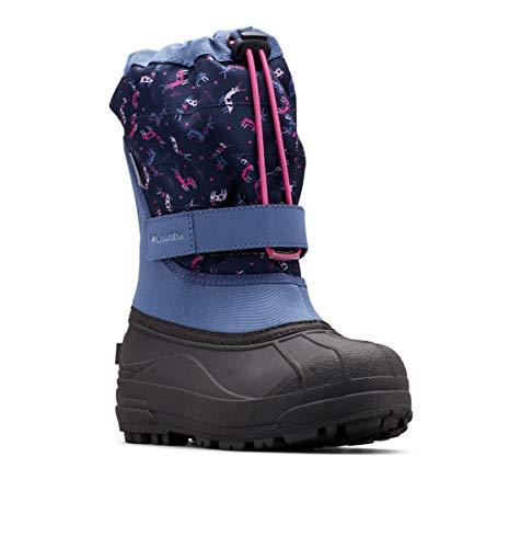 Columbia Baby Powderbug Plus II Print Snow Boot, Bluebell/Pink ice, 6 Regular US Toddler