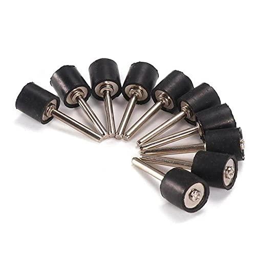 Mandril de banda de varilla de anillo de arena de 10 piezas, vástago de 1/4 de pulgada, 6,3 12,7 mm, kit de lijado de tambor, broca de uñas, herramientas abrasivas para accesorio Dremel, 12,7 mm