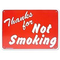 看板 店舗用 アメリカンサインボード CA7 (禁煙 の警告看板) Not Smoking 喫煙禁止 ノースモーキング オールドアメリカン プラスチック看板 プレート おしゃれ 西海岸風 インテリア アメリカン雑貨