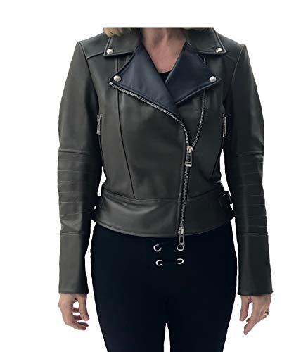 Belstaff Mollison Ladies Leather Jacket in Pine