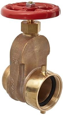 "Dixon UHGV250F Brass Single Hydrant Gate Valve with Handwheel, 2-1/2"" NST female x NST male by Dixon Valve & Coupling"