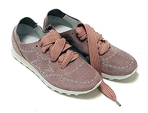 IGI&CO Zapatillas altas de mujer de ante con tachuelas, color antracita Gris Size: 36 EU (Ropa)
