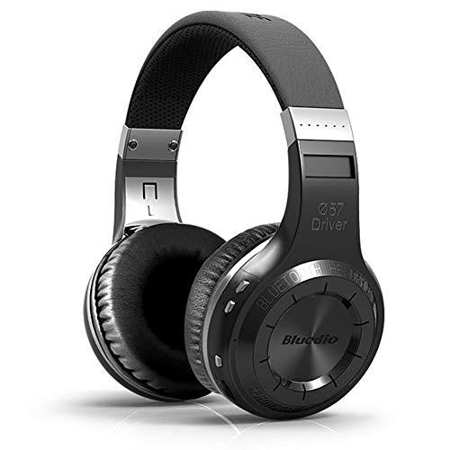 TNXB Draadloze Ruisonderdrukking Over-Ear Hoofdtelefoon - Stereo Draadloze Hoofdtelefoon, Deep Bass Draadloze Headset met Microfoon voor Vliegtuig/Reizen, Geschikt voor PC/Telefoons, size, Zwart