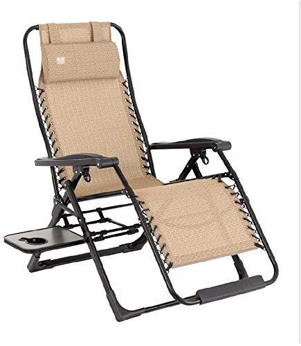 Living Decoration Garden Patio Liegestuhl Liege 90 & deg;168 & deg;Verstellbarer Klappdeckstuhl mit Armlehnen für Camping im Freien/Angeln im Freien/Garden Beach Lounge Chair
