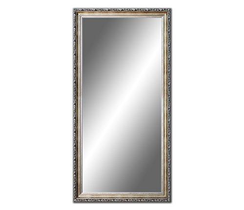 120 x 60 cm, 60 x 120cm Spiegel mit Rahmen, Badezimmerspiegel Antik, Alte Spiegel, Handgefertigte, Stabiler Rückwand, Rahmenleiste: 60 mm breit und 45 mm hoch, Rahmen Farbe: Gold- Silber