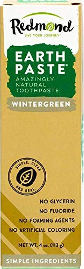密度裏切るむちゃくちゃ海外直送品Redmond RealSalt Natural Organic Flouride Free Toothpaste Wintergreen, Wintergreen 4 OZ